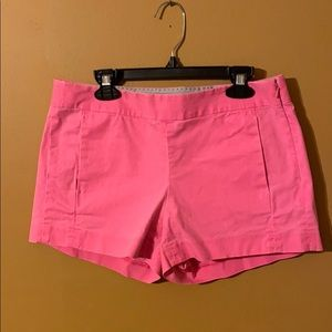 J. Crew Hot pink flat front shorts size 0